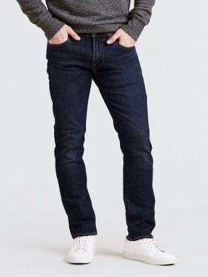 Modell i Levis 511 slim fit jeans zebroid adapt front