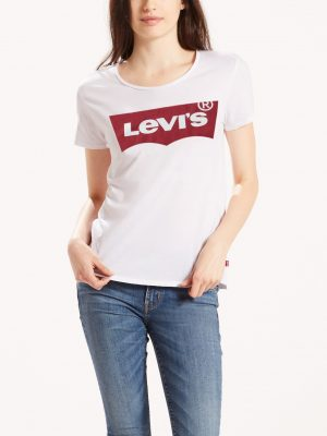 Bild på en Levis The Perfect Graphic Tee Large batwing white framifrån