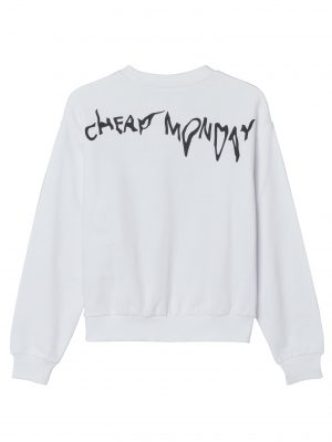 Bild på en Cheap Monday Get Sweat Droop logo White framifrån