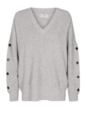 Produktbild Minimum Sweater Nicholine Light grey melange framifrån