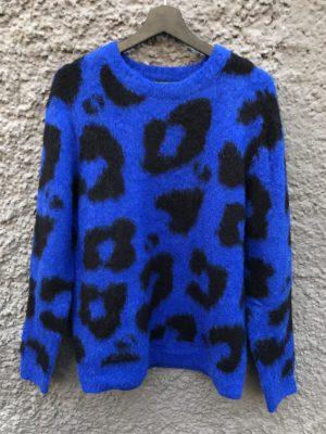 Produktbild Rut&Circle leopard knit Cobalt blue