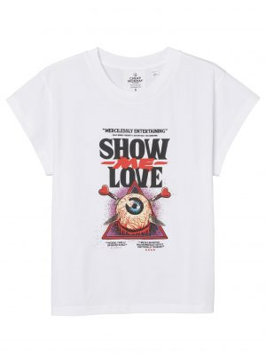 Produktbild Cheap Monday Screen top Love poster White