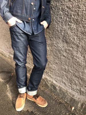 Modell i ett par Wrangler Icons Mens Western zipper