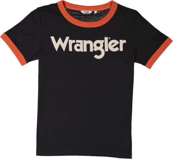 Produktbild Wrangler ringer tee Faded black
