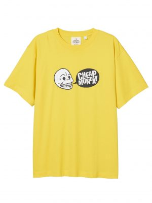 Produtkbild Cheap Monday Uni Tee Speech Logo Solar Yellow