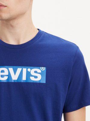 Modell i en Levis Graphic Tee Sodalite Blue