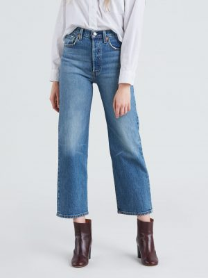 Levis Ribcage Straight Ankle Jeans - Jive Swing