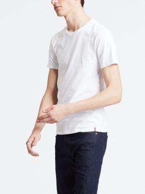 Levis Slim Fit Crewneck Tees 2 Pack - White