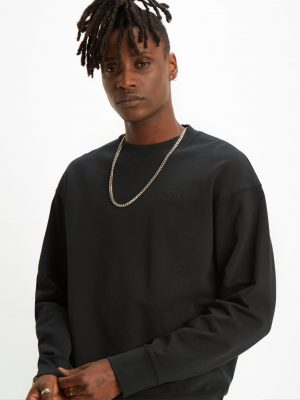 Levis Authentic Logo Crewneck - Mineral Black
