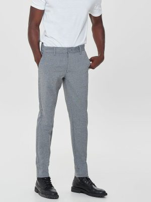 Only & Sons Mark Chinos - Medium Grey Melange